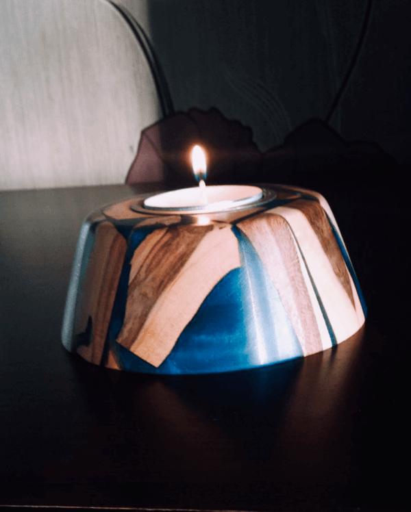 Teelicht Kerzen Halter Holz Handgefertig Weihnachtsgechenke