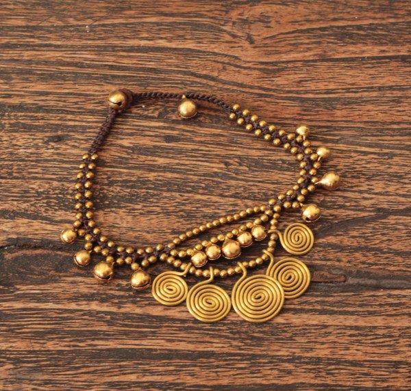 Orientalische Gypsy Fusskette - Gypsy Ibiza Style - Boho Fusskette