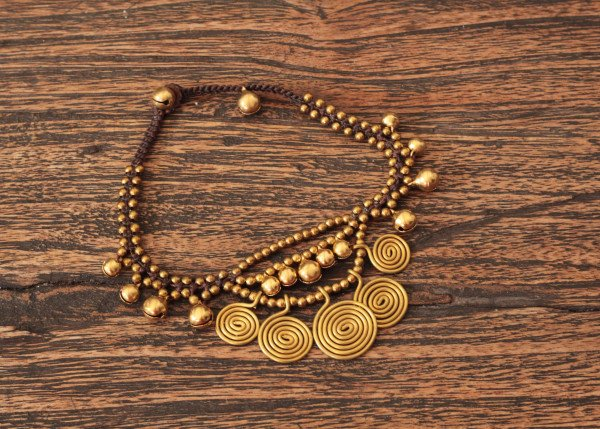 Orientalische Gypsy Fusskette - Gypsy Ibiza Style - Boho Fusskette - Ethno Schmuck
