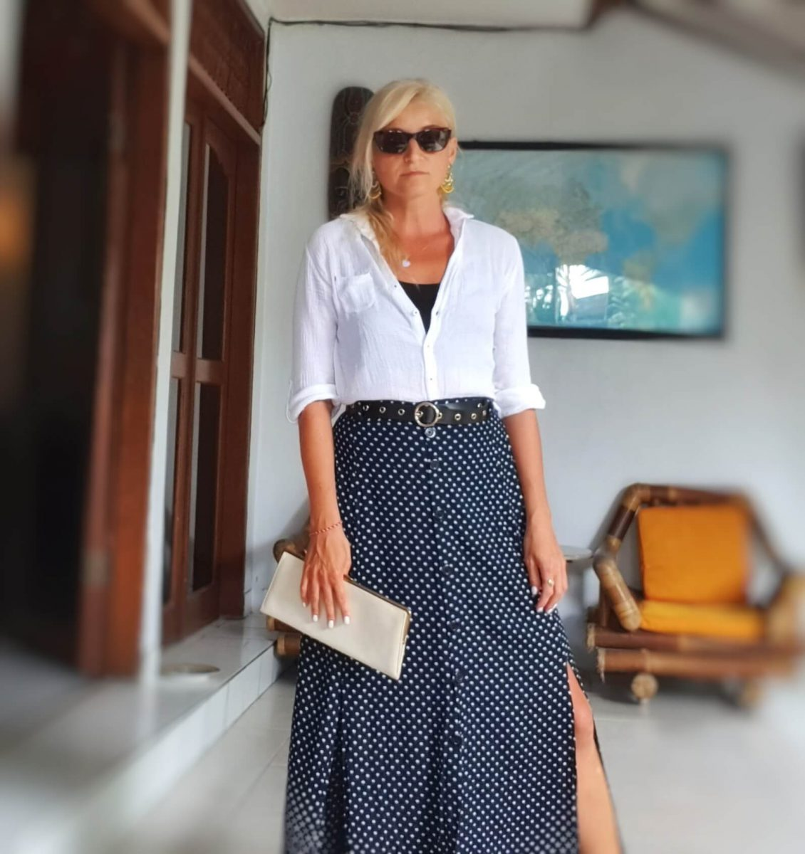 Polka Dot Business Outfit