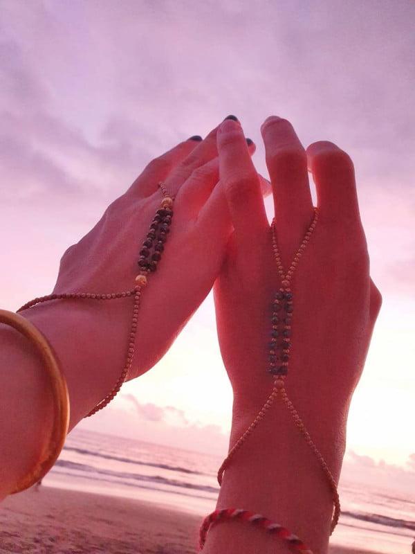 Slave Bracelet Hand Chain Macrame Boho Jewelry (1)