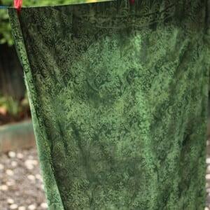 Batik Sarong Tuch Stradntuch Tannengrün