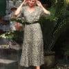 Boho Leoprint Kleid Midikleid Leoparden Kleid Sommerkleid Bohemian Ibiza Style Animal Print (1)