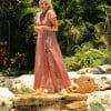 Boho summer dress wrap dress long maxi dress dotted