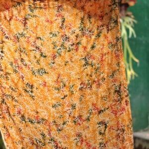 Gelb Grüner Saron Batik Hippie Tuch