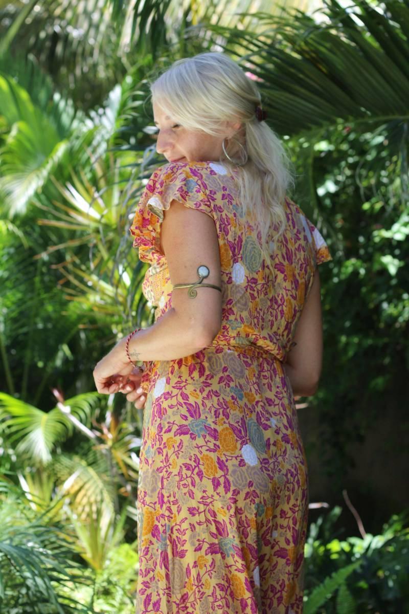 Gelbes Boho Sommerkleid Ibiza Style