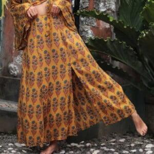 Sommerrocklang mit Schlitzen im Boho Hippie Style