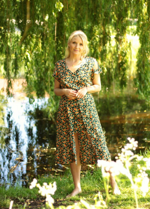 Blumen Kleid Sommerkleid Midi