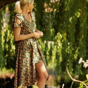 Blumenkleid Sommerkleid Midi Hippie Style