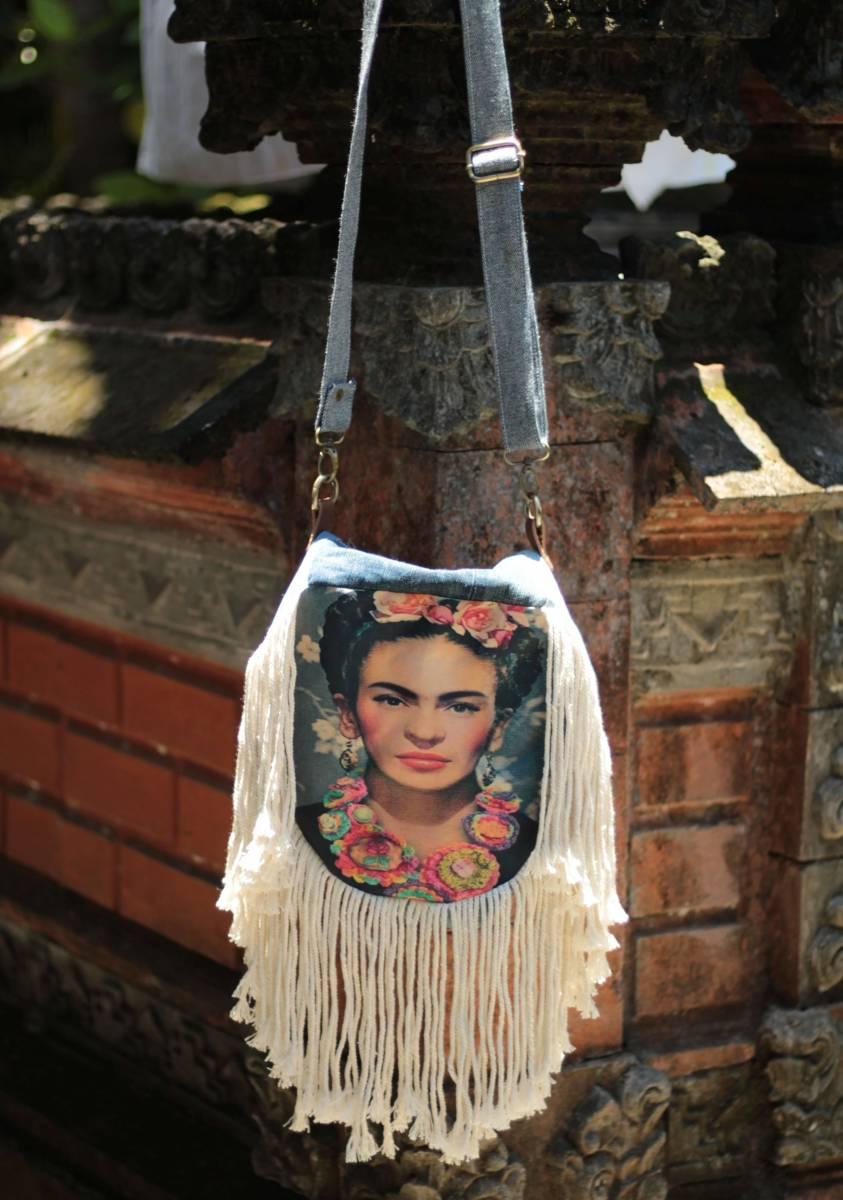 Boho Fransen Tasche Frida Kahlo