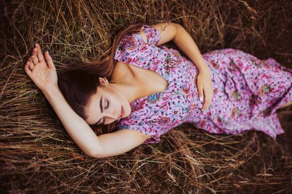 Boho Kleid Altrosé mit Paisley Print Cut Out Kleid Midi Kleid Sommerkleid Bohemian Sommer Kleid