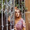 Boho Kleid Altrosé mit Paisley Print Cut Out Kleid Midi Kleid Sommerkleid Ibiza Kleidung