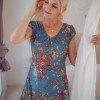 Boho maxi dress blue floral pattern floral dress summer dress