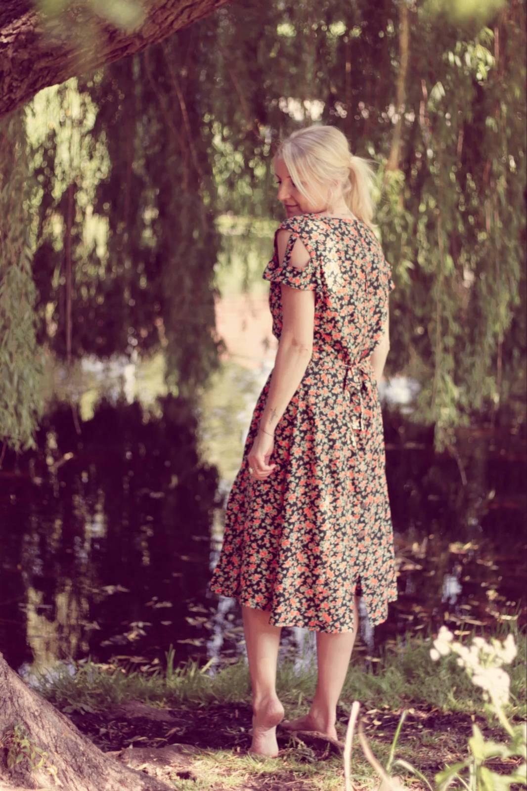 Boho Sommer Kleid Blumen Bohemian Style