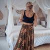 Hippie summer skirt batik pattern