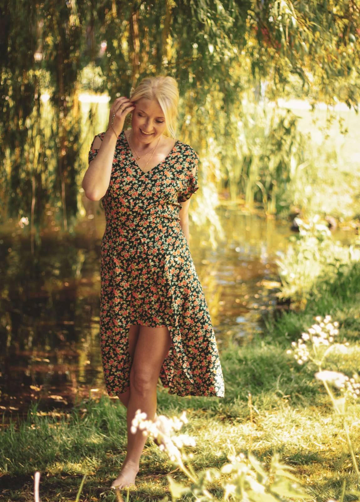 Kleid Blumen Sommer Boho Hippie Style Hipster