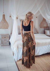 Maxirock Boho Ibiza Style Folklore Muster