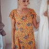 Mini Kleid Sommerkleid Gelb Boteh Muster Boho Style
