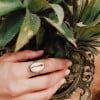 Ring Kauri Muschel 925 Silber aus Bali handgefertigt Muschelschmuck