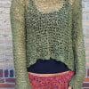 Hippie Goa Psy Trance Sweater Olive Green Military Green Khaki