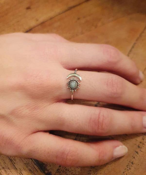 Ring Silber 925 Sonne Mond aus Bali