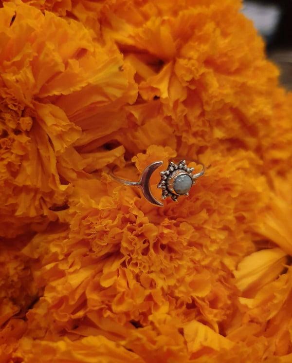 Ring Silber 925 Sonne Mond Bali Boho Style Schmuck
