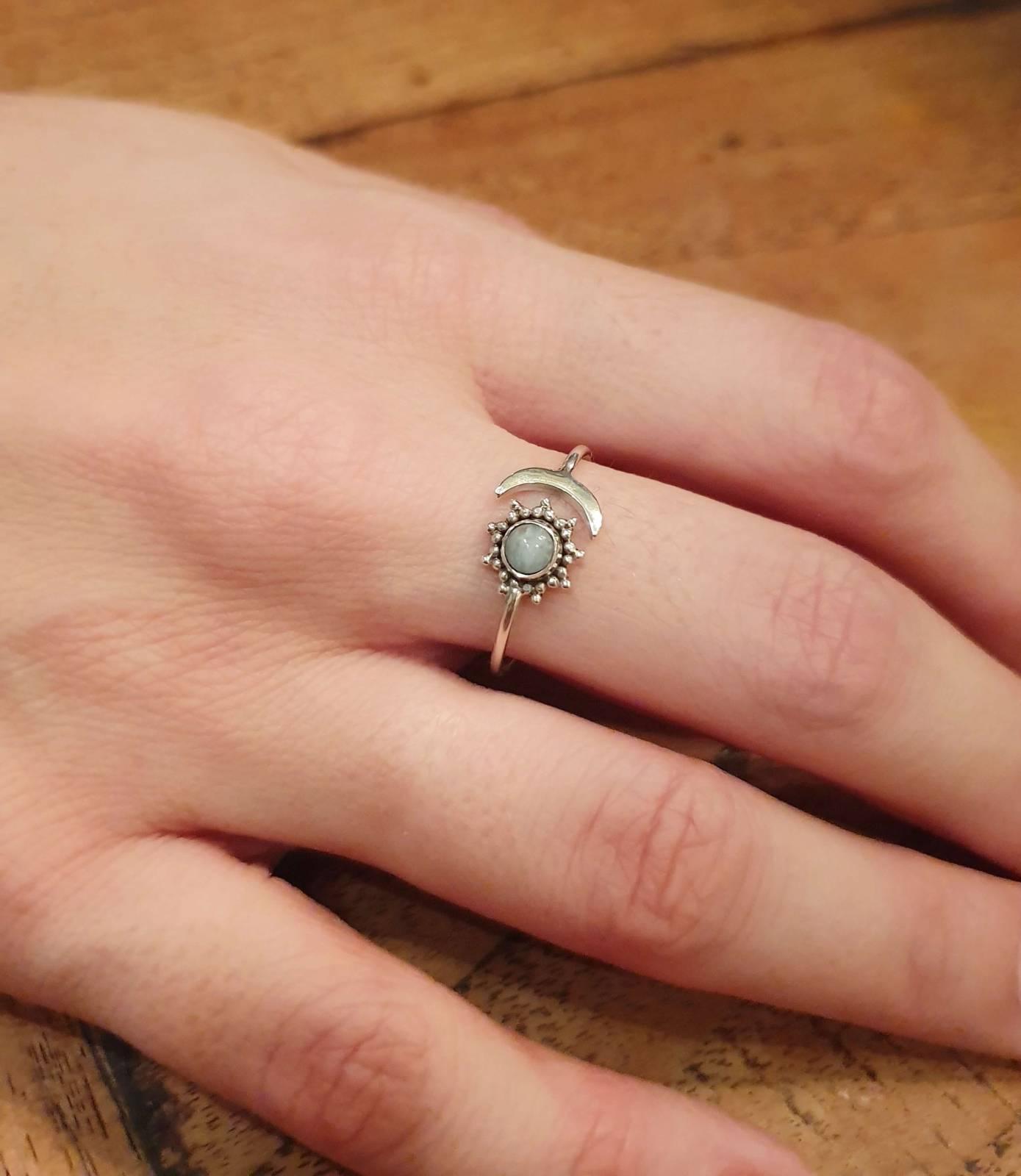 Ring Silber 925 Sonne Mond Handgefertigt in Bali