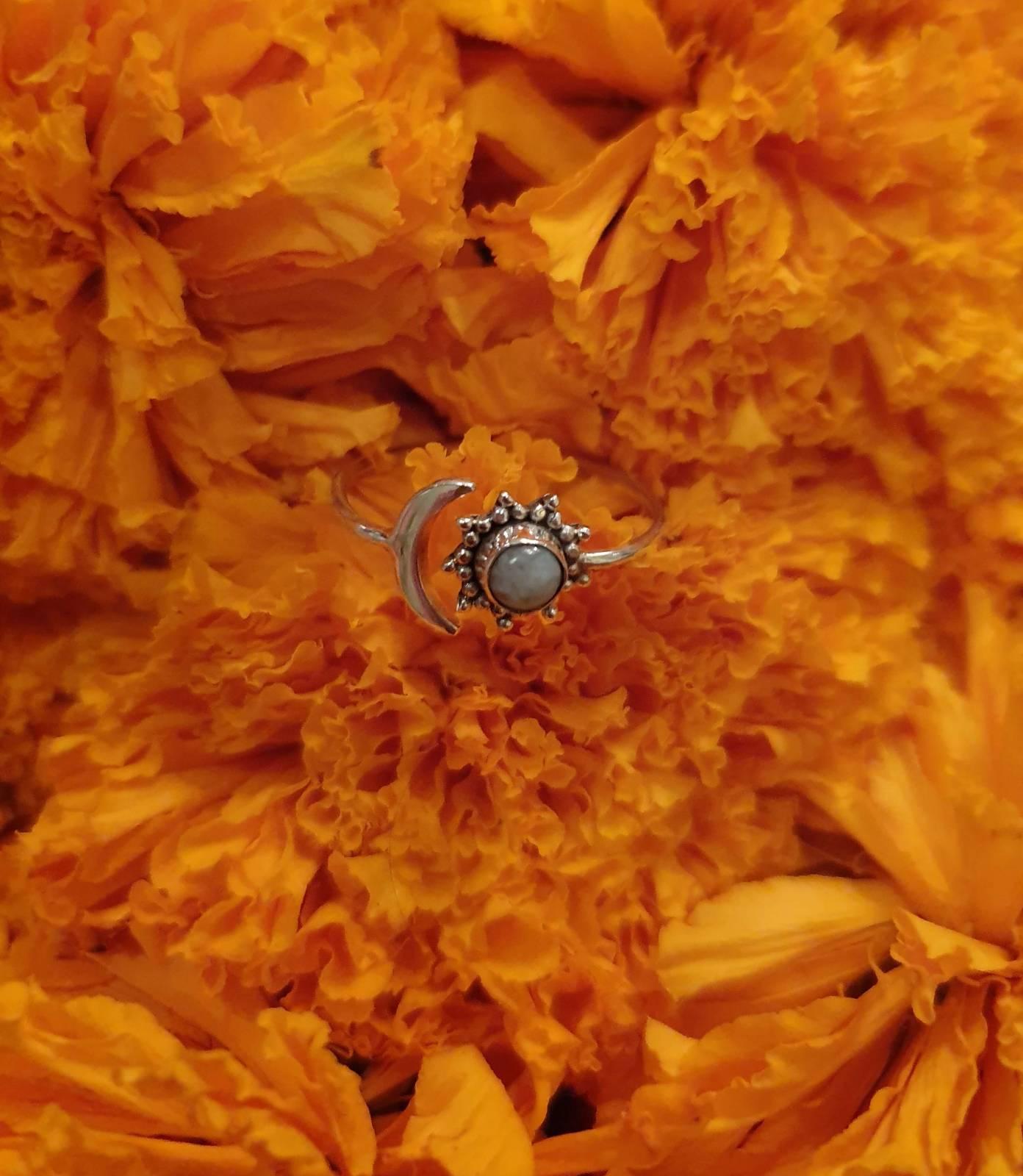 Ring Silber 925 Sonne Mond Ibiza Style