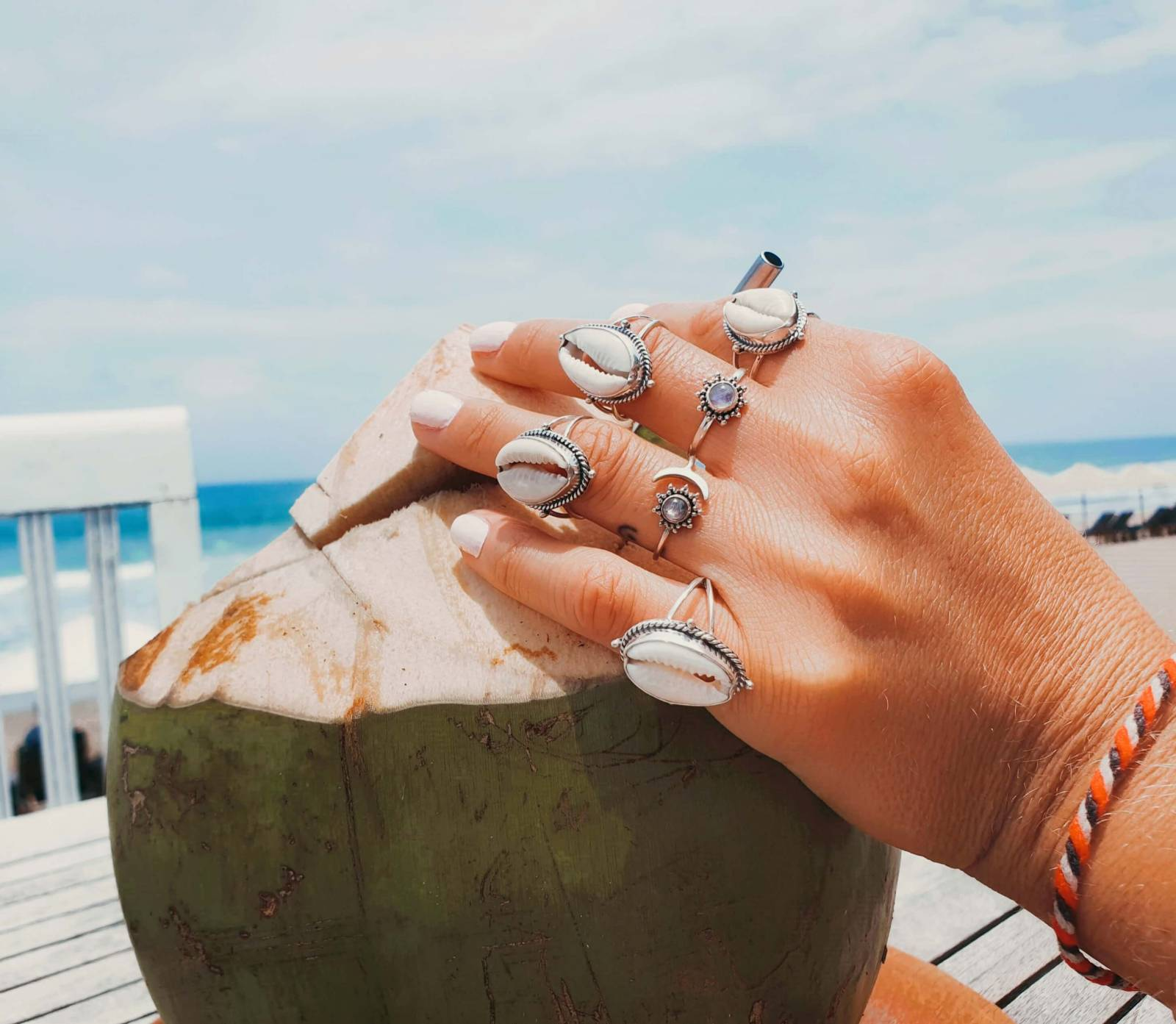 Silber Ring 925 Sonne Mond Boho