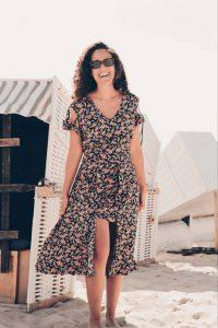 Boho Blumenkleid Asymmetrisch Boho Chic Kleid Cut Outs