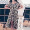 Boho floral dress asymmetrical mullet dress