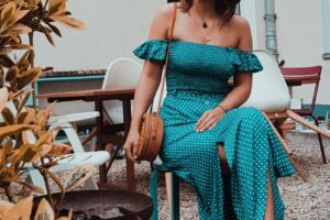 Boho Sommer Outfit Schulterfrei