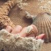 Muschel Ring 925 Silber Vergoldet Made in Bali - Cowrie Ring Silber aus Bali
