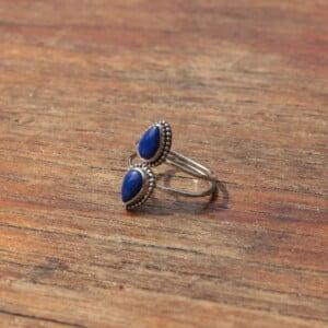 Statement Ring Silber Lapis Lazuli 925 Silber Boho Style