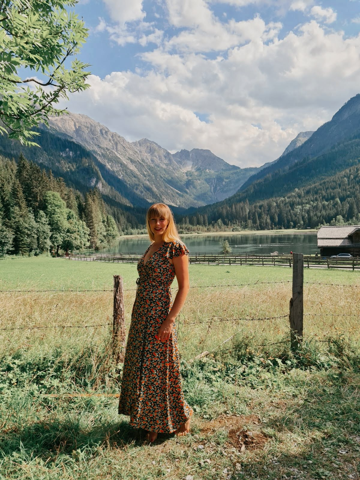 Boho Stillkleid Sommer Blumen Wickelkleid Maxikleid Hippie Style langes Kleid