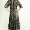 Bohemian Kleid Blumen Boho Hippie Herbst Winter Outfit Ibiza Chic