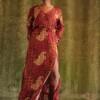 Bohemian Maxikleid mit Schlitz Boho Herbst Outfit