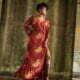Bohemian Maxikleid mit Schlitz Ibiza Hippie Kleid lang