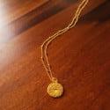 Boho Halskette Münz Anhänger graviert Sternenhimmel
