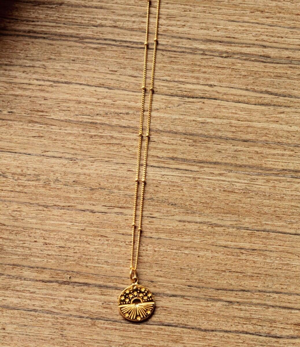 Boho Schmuck Münz Halskette Sternenhimmel Geschenk für Damen Schmuck