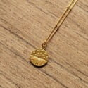 Boho Schmuck Münz Halskette Sternenhimmel Silber vergoldet 22 Karat