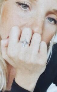 Boho Statement Ring Mondstein Ring 925 Silber Handgefertigt in Bali Boho Schmuck Silber Witchy Ring
