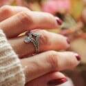 Boho Statement Ring Mondstein Ring 925 Silber Handgefertigt in Bali Hippie Schmuck