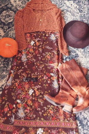Boho Herbst Outfit