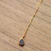 Edelstein Halskette Opal 925 Sterling Silber Minimalistisch