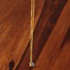 Edelstein Halskette Opal 925 Sterling Silber vergoldet
