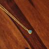 Opal Halskette vergoldet Türkiser Opal Handgefertigter Schmuck (7)