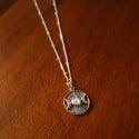 Boho Halskette 925 Silber Monde Medaillon Mondstein Witchy Schmuck Layering Münz kette