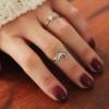 Feiner Silber Ring Mond Halbmond 925 Silber (10)