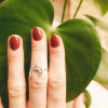 Feiner Silber Ring Mond Halbmond 925 Silber Ibiza Boho Style